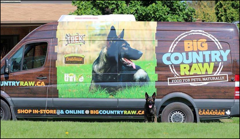 Isaak on the BigCountry Raw Pet Food Van